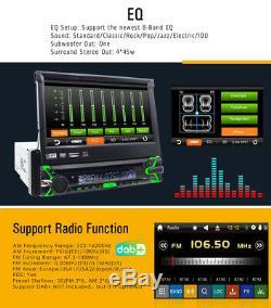 7 Voiture Gps 1 Din Radio Stéréo CD Lecteur DVD Bluetooth Carte + Caméra Pour Universal