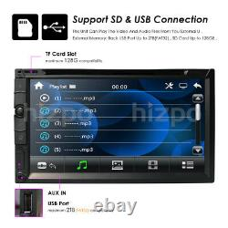 7car Stereo Radio Lecteur DVD Sony Lens Double 2din Ipod Bluetooth Tv Mp3 Aux Co
