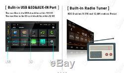 7double 2din Car Android 9.0 Stereo Radio Gps Lecteur Sd Nav Wifi Pour Carplay Sd