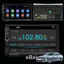 7double 2din Quad-core Android 7.1 3g Bluetooth Autoradio Stéréo Lecteur Mp5 Gps