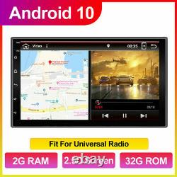 7gps Navi Android 10.0 Double 2din Voiture Audio Stéréo Wifi 4g Bluetooth Radio+cam