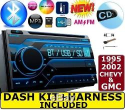 95-02 Gm Camion / Suv CD Bluetooth Usb Aux Double Din Car Stereo Radio