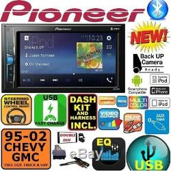 95-02 Gm Camion / Suv Pioneer Écran Tactile Bluetooth Usb Double Din Car Stereo Radio