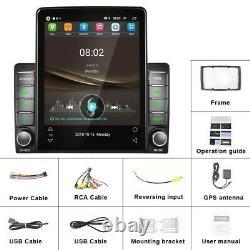 9,5 Pouces Double 2din Voiture Stereo Radio Android 10 Écran Tactile Gps Wifi Fm Lecteur