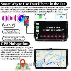 9 Android10 Double Din Car Stereo Carplay Gps 32gb Rom Tv Pour Siège De Golf T5 Eos