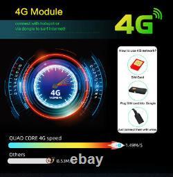 9'' Android 10.0 Double 2 Din Voiture Stéréo Lecteur Gps Sat Nav Head Unit Fm/am Wifi