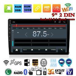 9 Pouces Android 8.1 Voiture Bluetooth Stéréo Radio Double 2 Din Lecteur Gps Navi Cam