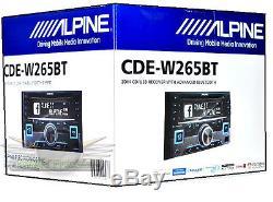 Alpine Cde-w265bt Stéréo Stéréo Pour Voiture CD / Am / Fm Bluetooth Double Din Bluetooth Nouveau Cdew256bt