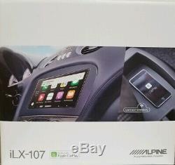 Alpine Ilx-107 Sans Fil Apple Carplay Double Din Au Tableau De Bord De Voiture Écran Tactile Stéréo