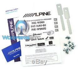 Alpine Ine-w960 6.1 Tv CD DVD Gps Bluetooth Navigation Pandora Sirius XM Ready
