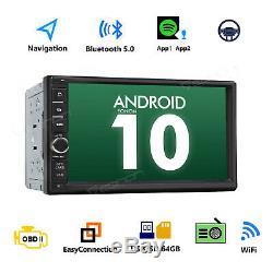 Android 10 Double 2din 7 Hd Quad-core Car Stereo Radio Gps Navigator Obd2 Obd2