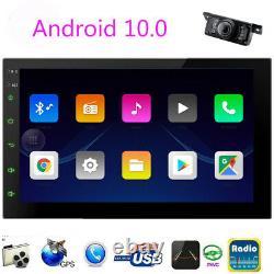 Android 10 Voiture Stéréo Avec Caméra De Secours Gps Double Din Touchscreen Bluetooth