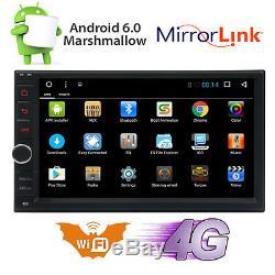 Android 6.0 Wifi 7 Double 2din Voiture Radio Stéréo Lecteur DVD Non-gps Nav Bt + Camera