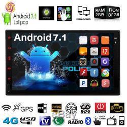 Android 7.1 7 Double Lecteur Stéréo Stéréo Mp5 D'autoradio Hd 1080p 4g De Noyau De Hd 1080p 4g