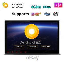 Android 8.0 Double 2din 10.1 Stéréo De Voiture Gps Gps Radio 4 Go De Ram 8-core Tpms Wifi