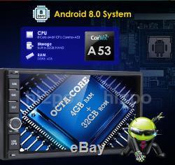 Android 8.0 Double 2din Car Stereo Radio Gps Navi 4g Wifi Dab 4 Go De Ram 32g + Caméra