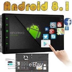 Android 8.1 7 Double 2din Indash Voiture Mp5 Radio Stéréo Lecteur Wifi 4g Gps + Tablet