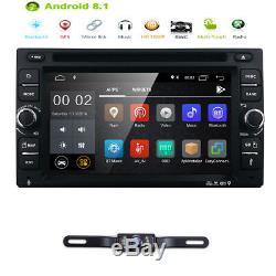 Android 8.1 Double Din Car Stereo Radio Gps Wifi 3g Obd2 Hd Miroir Bt Avec DVD E