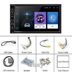 Android 8.1 Wifi/4g 7 Double 2din Voiture Radio Stéréo Lecteur Gps Nav Bt+map 1+16gb