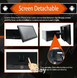Android 9.0 Double 2din Car Stereo Radio Gps Nav Wifi Dab Miroir Lien Pas DVD + MIC