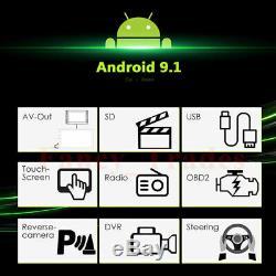 Android 9.1 Double 2din 10.1 '' Radio Stéréo Gps Lecteur De Voiture 4g Bt Wifi Caméra Usb +