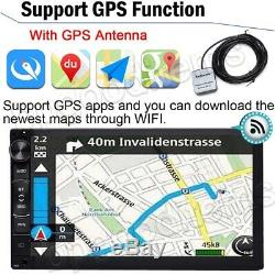 Android Rapide Quad Core 7 Double 2din Gps Navi Wifi Car Stereo Mp5 Radio