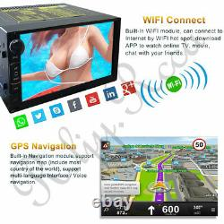 Appareil Photo + 7 Android 8.1 Double 2din Voiture Stéréo Radio Gps Wifi Mirror Link Player