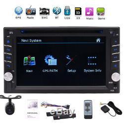 Appareil Photo Et Gps Double 2din Stereo Radio Voiture CD Lecteur DVD Bluetooth + Carte