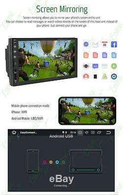 Au Tableau De Bord Android 8.1 Wifi 7double 2din Autoradio Gps Stéréo Pas De Lecteur DVD + Appareil Photo