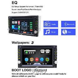 Backup Camera+gps Double Din Car Stereo Radio DVD Mp3 Player Bluetooth Avec Carte