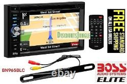 Boss Bn965blc Double Din Car 6.5 Dvd/bluetooth Player Navigation Caméra De Sauvegarde
