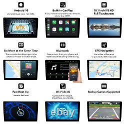 Cam + Obd + 10.1android 10 Double 2 Din Car Stereo Gps Navigator Radio Dab + Carplay