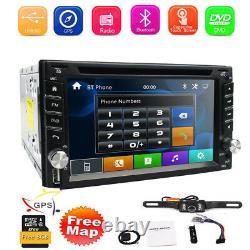 Caméra Arrière & Gps Double 2din Voiture Stereo Radio Lecteur CD DVD Bluetooth Avec Carte
