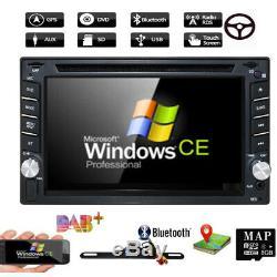 Caméra De Recul Et Gps Double 2din Car Stereo Radio CD Lecteur DVD Bluetooth Avec Carte