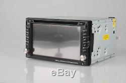 Caméra De Recul + Gps Double Din Voiture Radio Stéréo Lecteur DVD Mp3 Bluetooth Avec Carte