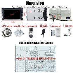 Caméra De Sauvegarde Et Gps 6.2 Double 2din Voiture Stereo Radio CD Lecteur DVD Bluetooth Carte