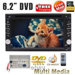Caméra De Sauvegarde & Gps Double 2din Voiture Stereo Radio Lecteur CD DVD Bluetooth + Carte Américaine