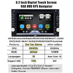 Caméra De Sauvegarde + Gps Navi 6.2 Double 2 Din Car Stereo Radio DVD CD Mp3 Lecteur Aux
