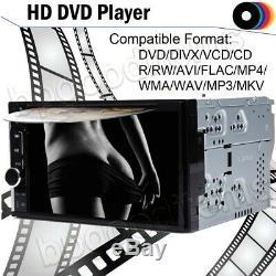 Caméra Voiture Stéréo Mirrorlink-gps Bluetooth Radio 2 Double Din 6.2 Lecteur DVD + CD