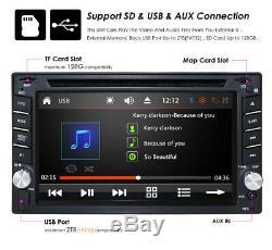 Car Stereo Gps Navi Bt Radio 2 Double Din 6.2 Lecteur DVD Avec Carte Et Caméra Hd Us