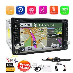 Car Stereo Navigation Gps Radio 2 Double Bluetooth 6.2 Din CD DVD Caméra Lecteur