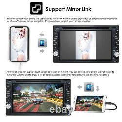 Carte Gps Navi Voiture Bluetooth Stereo 6.2 Radio Lecteur CD DVD Double 2 Din + Caméra