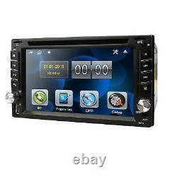 Carte+camera+gps Nav 6.2 Double 2din Voiture Stereo Radio DVD CD Mp3 Lecteur Bluetooth