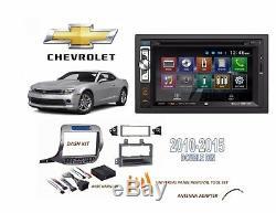 Chevrolet Camaro 2010-2015 Double Din Autoradio Kit DVD Bluetooth Tactile