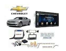 Chevrolet Camaro Double Din Car Stereo Kit Bluetooth Touchscreen Usb 2010-2015