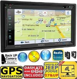 Chrysler Jeep Dodge Système Gps De Navigation Bluetooth / Usb / Eq Car Radio Stereo Emb