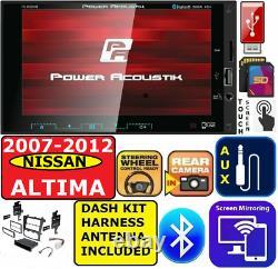 Convient À 2007-12 Nissan Altima Ecran Bluetooth Miroir Usb Sd Aux Aux Voiture Stéréo