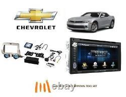 Convient Chevrolet Camaro 2010-2015 Double Din Voiture Stereo Kit Écran Tactile Bluetooth