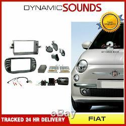 Ctkft02 Car Stereo Double Din Fascia Kit De Montage Directeur Pour Fiat 500 07-15