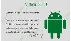 Dans Dash Android 8.1 Voiture Radio Double 2din Stéréo Gps Nav Lecteur Sd Wifi Aux Usb